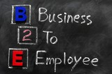 Acronym of B2E - Business to employee poster