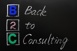 Acronym of B2C - Back to consulting poster