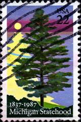 Michigan Statehood. 1837 - 1987. US Postage.