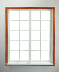 Modern residential window with clipping path