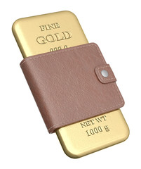 Gold bar in the wallet