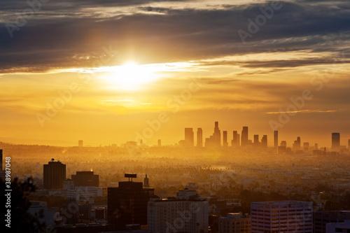 Canvas Los Angeles Los Angeles sunrise