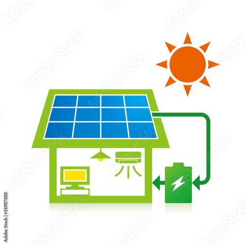 太陽光発電と蓄電池で快適な生活 - 38987888