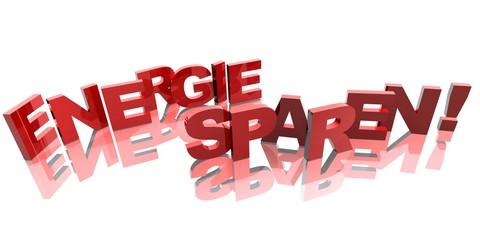 3D Buchstaben - ENERGIE SPAREN