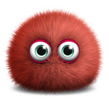 cute red bacterium poster