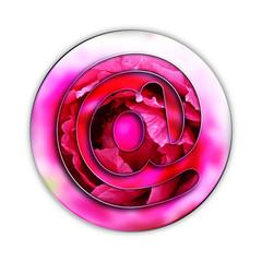 Arobase, internet, picto, fond, web, mail, fleur, jardin
