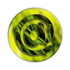Arobase, internet, picto, fond, web, mail, herbe, vert