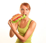 girl with food