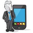 businessman & mobile
