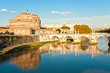 Castel Sant'angelo and Bernini's statue on the bridge, Rome, Ita