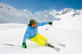 Freeride in powder snow