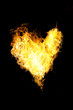 Heart of of flame