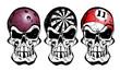 bowling, darts and billiard skulls