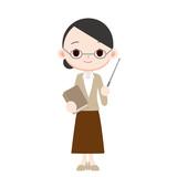 年配の女性教師