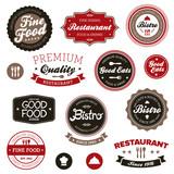 Fototapety Vintage restaurant labels