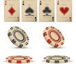 Old casino vector set