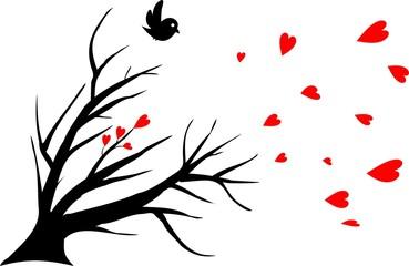 bird alone, symbol of a lost love