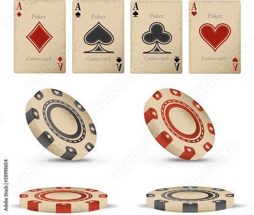 Old casino vector set