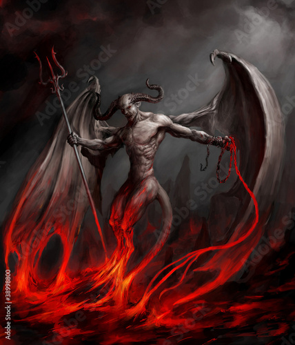 canvas print picture Devil