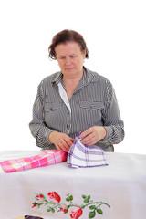 Hausfrau bei der Arbeit
