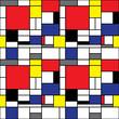 Repeating Mondrian Background