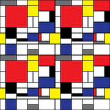 Fototapety Repeating Mondrian Background
