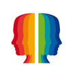 Logo psychologist, colored heads # Vector
