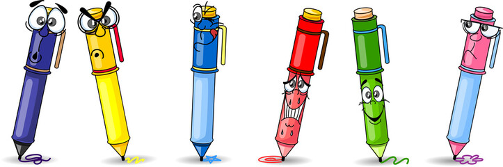 Ручка мультфильм школа