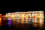 Winter Palace (Hermitage) Saint Petersburg city by night