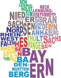 Germany map word cloud