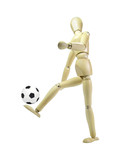 Soccer Player Wood Puppet