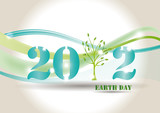 Background on earth day in 2012 year poster