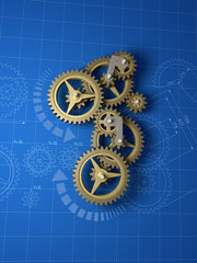 abstract machinery - blueprint background