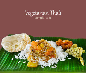 Indian traditional veg thali