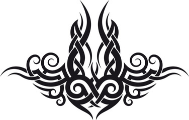 Maori tribal tattoo design