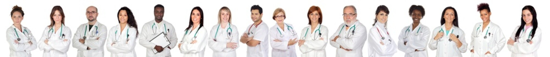 Medical team with white uniform