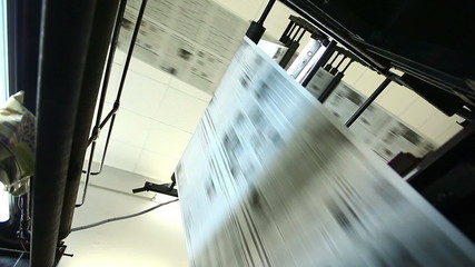 view on huge press shop typography machine