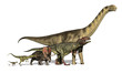 Six Dinosaurs Huge to Tiny - 39009032
