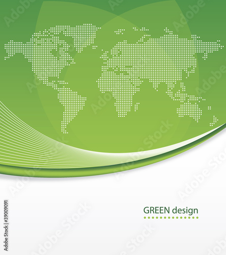 Abstract Business Green Design