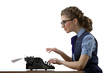 The secretary-typist work