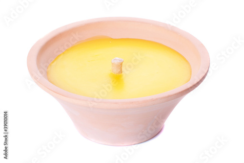 Candle in a pot