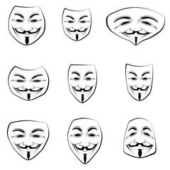 les visages des Anonymous