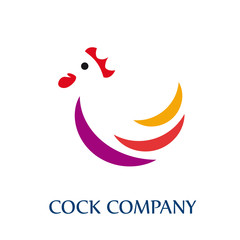 Logo Rooster, cock company # Vector