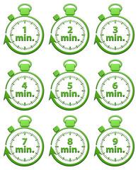 1 à 9 Minutes Chrono