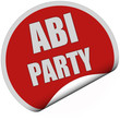 Sticker rot rund curl unten JABI PARTY