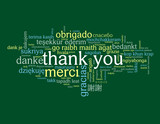 """THANK YOU"" Tag Cloud (merci danke gracias obrigado smile card)"