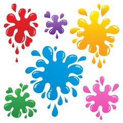 Colorful ink blots collection 1
