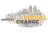 "Word Cloud ""Social Change"""