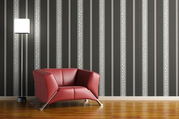 High resolution 3D render gray interior