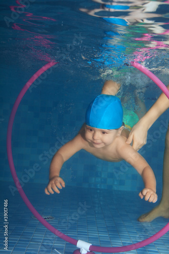 Diving toddler
